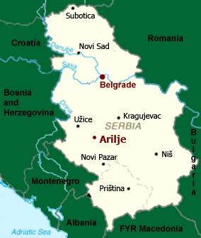 arilje mapa Arilje arilje mapa
