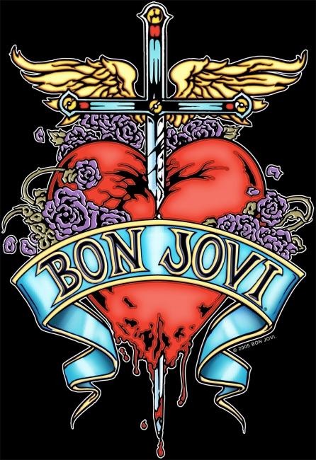Amazoncom Bon Jovi You Give Love A Bad Name Tshirt